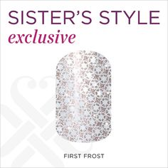 'Tis the season to sparkle! This delicate, feminine design features a soft blush sparkle base with a white crystal-like overlay. 'First Frost' has all that glitz and glam you need to celebrate the holiday season in sparkling style! Jamberry Nails Consultant, Jamberry Nail Wraps, Jamberry Christmas, Mystery Hostess, Glitz And Glam, Gorgeous Nails, Swag Nails, Cute Nails, You Nailed It