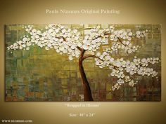 Pretty original painting by Paul Nizamas.  Love the detail of the blossoms.