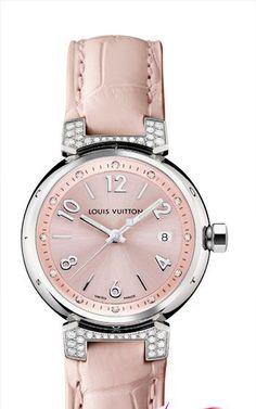 Louis Vuitton blush pink watch @}-,-;--