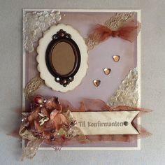 Konfirmasjon, jente Frame, Home Decor, Picture Frame, Decoration Home, Room Decor, Frames, Home Interior Design, Home Decoration, Interior Design