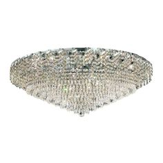 Elegant Lighting 36-Light Chrome Flushmount with Clear Crystal