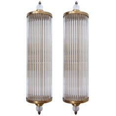 Large Pair of Vintage Murano Wall Lights, Venini   From a unique collection of antique and modern wall lights and sconces at https://www.1stdibs.com/furniture/lighting/sconces-wall-lights/
