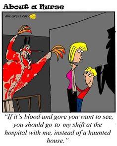 Cartoon: It's that time of year ... Halloween. - About A Nurse - Nursing Cartoon Series Nursing Humor