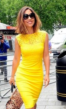 Myleene Klass is a ray of sunshine in summery yellow dress as she . London Attractions, Holiday Apartments, Yellow Dress, Sunshine, Bodycon Dress, Pretty, Clothes, Dresses, Fashion