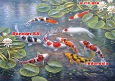 Dandan Sa - KOI FISH PAINTINGS /Lukisan Ikan Koi