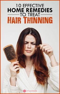 10 Effective Home Remedies To Treat Hair Thinning. - 10 Effective Home Remedies To Treat Hair Thinning. Argan Oil For Hair Loss, Biotin For Hair Loss, Hair Loss Shampoo, Biotin Hair, Baby Hair Loss, Stop Hair Loss, Prevent Hair Loss, Home Remedies For Hair, Hair Loss Remedies