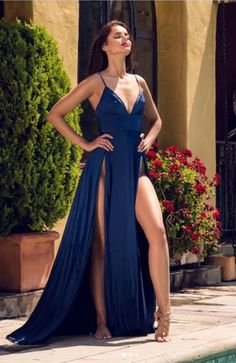 A-line Navy Blue Prom Dress ,Spaghetti Straps Thigh Splits Prom Dresses, Shop plus-sized prom dresses for curvy figures and plus-size party dresses. Ball gowns for prom in plus sizes and short plus-sized prom dresses for Split Prom Dresses, Navy Blue Prom Dresses, Prom Dresses 2017, Prom Party Dresses, Evening Dresses, Bridesmaid Dresses, Formal Dresses, Navy Dress, Wedding Dresses
