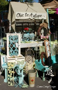 Vintage+Flea+Market+Displays | ... , Vintage Booth Displays, Antiques Boutiques, Flea Market Displays