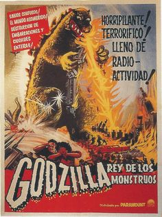 """Godzilla, King of The Monsters"" Cuban poster."