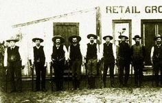 "Texas Rangers in Cotulla, Texas, Feb. 1887. Cotulla cowboys were rough, so much so that allegedly when a train pulled into the Cotulla station, the conductor would call out ""Cotulla! Everybody get your guns ready.""There were shooting on Front Street, Sheriff McKinney was murdered which resulted in further gunfights. There were illegal hangings. The governor had to send in a troop of Texas Rangers."