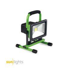sunlights LED Akku Baustrahler 20W 1800lm stufenlos dimmbar grün entspricht etwa 150W