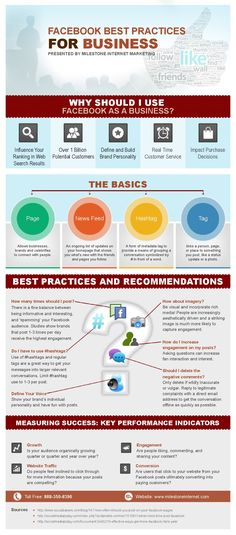 Facebook Best Practices And Recommendation For Brands - #infographic #facebook #socialmedia