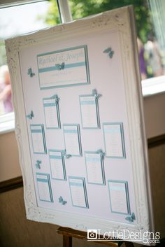 Pale Blue Wedding Table Plan
