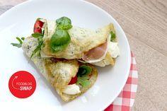 Recept voor Paleo Lunch Wraps met Mozzaralla, Prosciutto en Rucola. Een heerlijke Italiaanse, broodloze lunch die ook in een koolhydraatarm dieet past.
