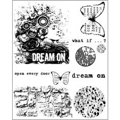 Finnabair Cling Stamps - Dream On
