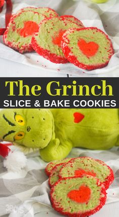 christmas cookies grinch Weihnachtspltzchen I love how easy these Grinch heart cookies are. Theyre a no-brainer for making Christmas cookies with the kids! Christmas Cookies Grinch, Grinch Cookies, Easy Christmas Cookie Recipes, Christmas Cookie Exchange, Holiday Snacks, Best Cookie Recipes, Christmas Treats, Holiday Fun, Sweet Potato Oven