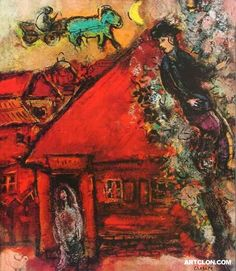 Marc Chagall ~ The Red House