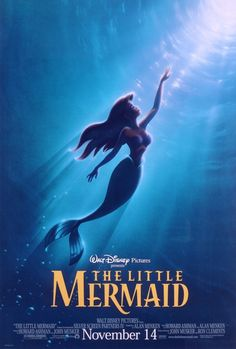 "Photo of Walt Disney Posters - The Little Mermaid for fans of Walt Disney Characters. Walt Disney Poster of Princess Ariel from ""The Little Mermaid"" Disney Films, Disney Pixar, Disney Puns, Disney Wiki, Disney Art, Disney Characters, 80s Movies, Good Movies, Watch Movies"