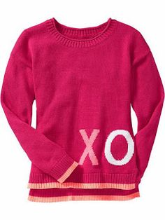 My Crafty Collections: Bargain Bin - Hot Deals From Old Navy & Amazon - Girls Graphic Sweaters are on sale for just $11.99 (orig. $24.99) - Available in a variety of colors and sizes.