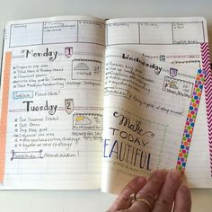 Bullet journal for work! Dutch door style