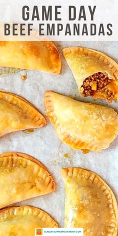 Puerto Rican meat pies, also known as baked empanadas, are a flavorful hand pie recipe with a ground beef, sofrito, and potato filling! You can make these easy savory pies with homemade empanada dough or use frozen Goya discos to simplify it even more. #SundaySupper #Empanadas #PuertoRicanFood #MeatPies #AppetizerRecipes #puertoricanrecipes #empanadasrecipe #empanada #beefempanadas #appetizers #handpies #meatpies #savorypies #pierecipe #easyrecipes #dinners #easydinners