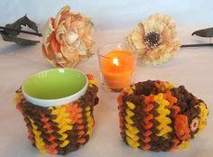 cup cozy, Set 2 of mug cozy, mug cozy, mug sweater, mug holder, coffee cozy, autumn color, tazza cozies, perfect gift