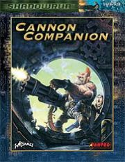 Cannon Companion | Book cover and interior art for Shadowrun Third Edition - SR3, 3rd Ed, 3E, science fiction, sci-fi, scifi, scify, Roleplaying Game, Role Playing Game, RPG, FASA Games Inc., FASA Corporation, Ral Partha Europe Ltd. | Create your own roleplaying game books w/ RPG Bard: www.rpgbard.com | Not Trusty Sword art: click artwork for source