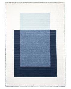 Quilted wall hangings - Colour Block Quilt 2 Modern Quilt Wallhanging Patchwork CottonLinen Throw Blue & White B – Quilted wall hangings Hanging Quilts, Quilted Wall Hangings, Modern Quilting Designs, Geometric Quilt, Linen Bedding, Bed Linens, Bedding Sets, Linen Pillows, Diy Bed