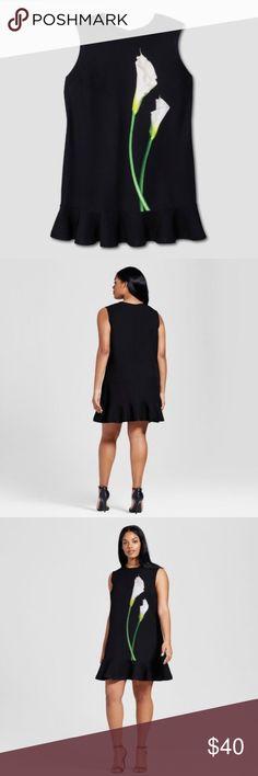 Victoria Beckham for Target Plus Black Lily Dress Victoria Beckham Black Lily dress size 3X   Ruffle Hem Back Zipper Closure Victoria Beckham Dresses Mini