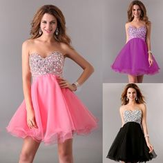 Stunning Sweetheart Womens Evening Party Gown Short Formal Prom  Dress