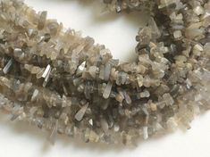 WHOLESALE 5 Strands Grey Moonstone Chips Grey by gemsforjewels