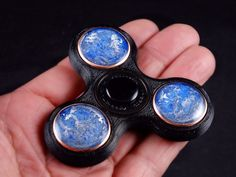 Orgone Finger Spinner with Arkansas Crystals by BittleBoxArt