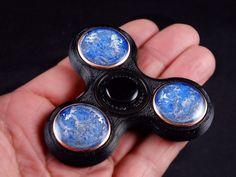 Orgone Finger Spinner with Arkansas Crystals by BittleBoxArt
