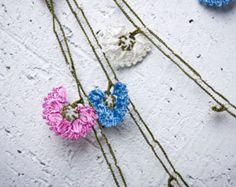 Crochet necklace turkish lace needle lace oya necklace