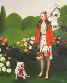 Beatrice In The Garden On Her Sixth Birthday.  Art Print
