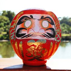 #Daruma - a Japanese New Year's tradition! Color in one of Daruma's eyes when you make your New Year's wish or resolution and color in the other when it comes true! #japanese #newyear