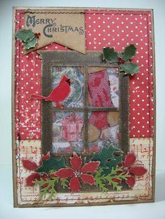 Shrink Plastic Christmas Window Card