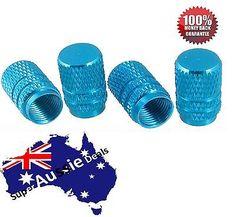 4 PCS Tire Tyre Wheel Cylinder Ventil Valve Stems Cap For Auto Car Truck BLUE
