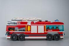 Lego City Feuerwehrfahrzeug Umbau EVO 2 - Seitenansicht