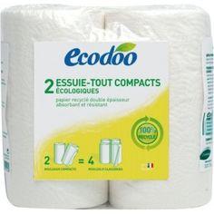 Keukenrol 2 stuks Ecodoo van gerecyclede cellulosevezels <3