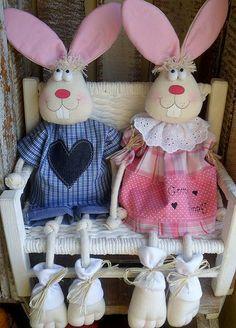DIVINOS estos conejos de tela!