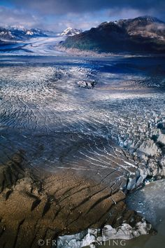 Tana Glacier (aerial), Wrangell-St. Elias National Park, Alaska