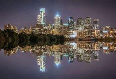 ...Philadelphia, reflected in the Schuylkill River... 2015...