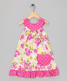 Take a look at this Hot Pink Lily Trapeze Dress - Toddler & Girls by Ruby & Rosie on #zulily today!