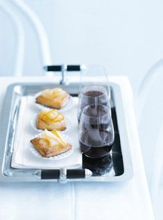 Goat's Cheese and Pear Pastries; a great party starter, pairs nicely with wine! - donnahay.com.au