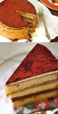Tarta cremosa de dulce de leche / http://www.frombatoparis.com/