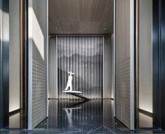 【新提醒】安静的艺术,演绎气质非凡的卓越 TOP系列|派尚设计_商业展厅_室内设计联盟 - Powered by Discuz! Showroom Interior Design, Lobby Interior, Interior Lighting, Luxury Interior, Foyer Design, Lobby Design, Hall Design, Hotel Corridor, Feature Wall Design