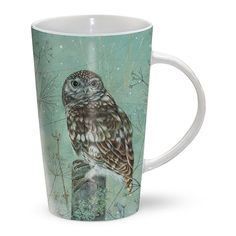 Gifts for Him | Gifts for Her | Latte Mug - Little Owl 'Look Out'