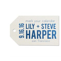 Custom Stardream White Luggage Tag with Shiny Royal Blue on ForYourParty.com