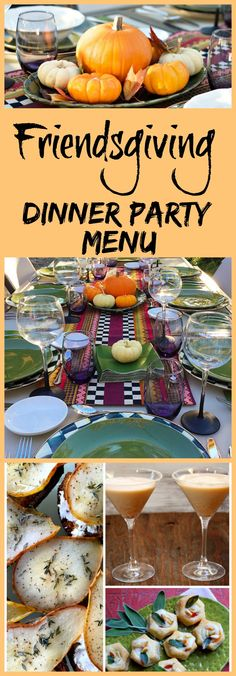 How to Host a Friendsgiving Dinner Party.  Recipes, decor/tablescape ideas, and easy entertaining tips included for a fun fall dinner party with friends. Dinner Party Meals, Fall Dinner Parties, Dinner Menu, Dinner Ideas, Dinner Themes, Easy Dinner Party Recipes, Dinner Club, Supper Club, Party Fun